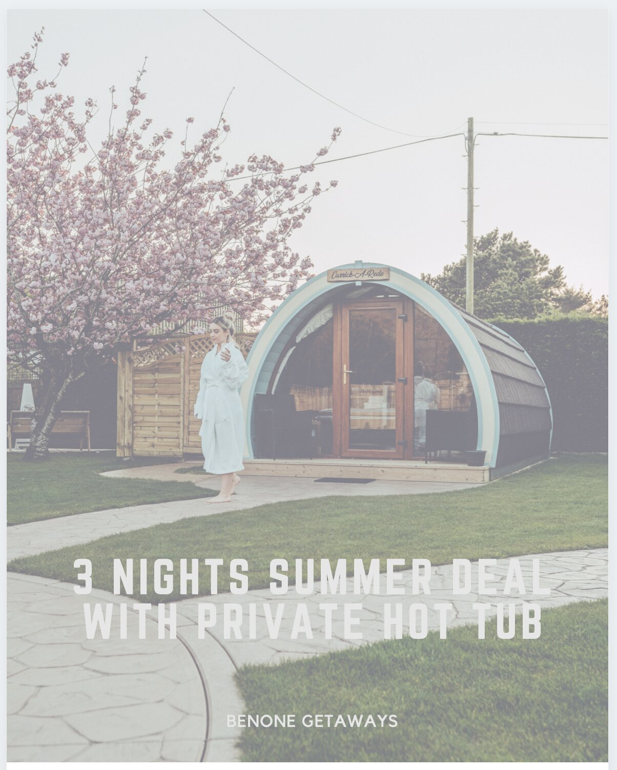 3 Night Summer Deal with Private Hot Tub